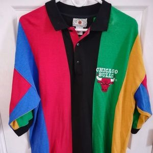 RARE Vintage 90s In the Paint Bulls polo sz L